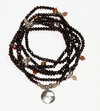 BROWN NECKLACE/BRACELET BRIUT WITH SOLID SILVER PENDANT, TIGER EYE, CORNELIAN and SUNSTONE (Good Vibes Collection)