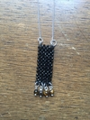 Trama (Thread) Necklace with faced spinel and tiger eye beads, silver american chain and silver elements