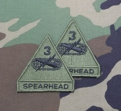 Lote com 2 itens Patches 3nd Armored Division Blindados Originais US ARMY