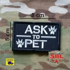 "Funny Patch ""Ask to Pet"" - comprar online"