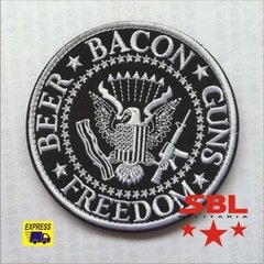 Funny Patch Beer Bacon Guns e Freedom na internet
