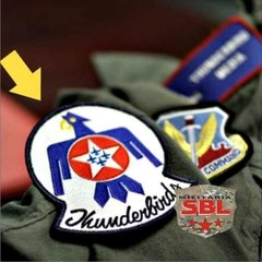 Lote Placa Decorativa Thunderbirds Grupamento de Jatos US Air Force - MILITARIA SBL