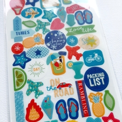 Plancha de stickers TRAVEL - comprar online