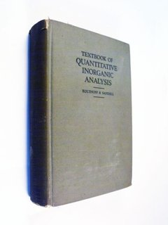 Kolthoff Sandell Textbook Of Quantitative Inorganic Analysis