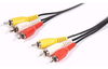 Cable 3 Rca Macho - 3 Rca Macho Audio Y Video 5 Mts