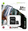 Memoria Micro Sd 64gb Kingston 100mb/s Clase 10 + Adaptador