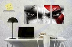 Quadro Mosaico | Kratos God Of War| Games