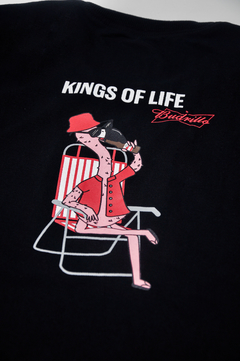 Camiseta Budweiser Amarillo Kings of life preta manga curta