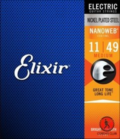 Encordoamento Elixir Guitarra 011 Nanoweb 12102 Medium