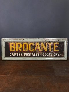 CARTEL BROCANTE YELLOW RECICLADO