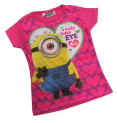 REMERA BARBIE MINNIE MONSTERS HIGH MINNIONS MANGA CORTA SUBLIMADA ROLFY - tienda online