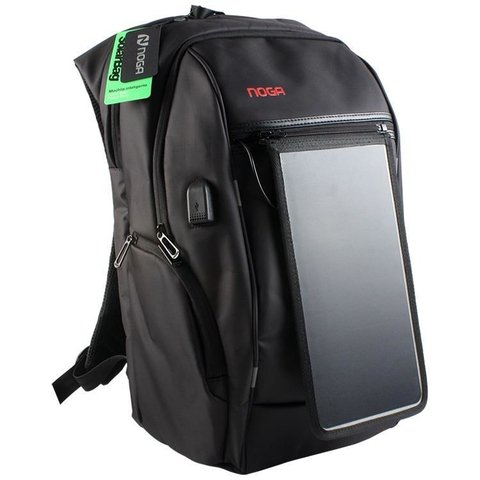 Mochila Noga Power Bank Solar Carga Celular Tablet