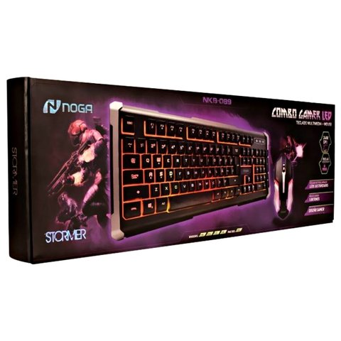 Combo Teclado Y Mouse Pc Gamer Nkb089 Noga - Depot