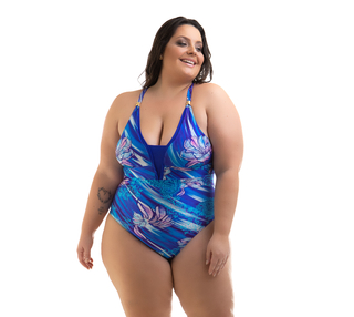 MAIÔ SEM BOJO AZUL ROYAL PLUS SIZE EXCLUSIVO
