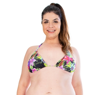 TOP CORTININHA AVULSO FLOWERS PLUS SIZE