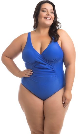 MAIÔ MAUI AZUL ROYAL PLUS SIZE ACQUA ROSA