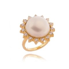 Sunshine pearl ring
