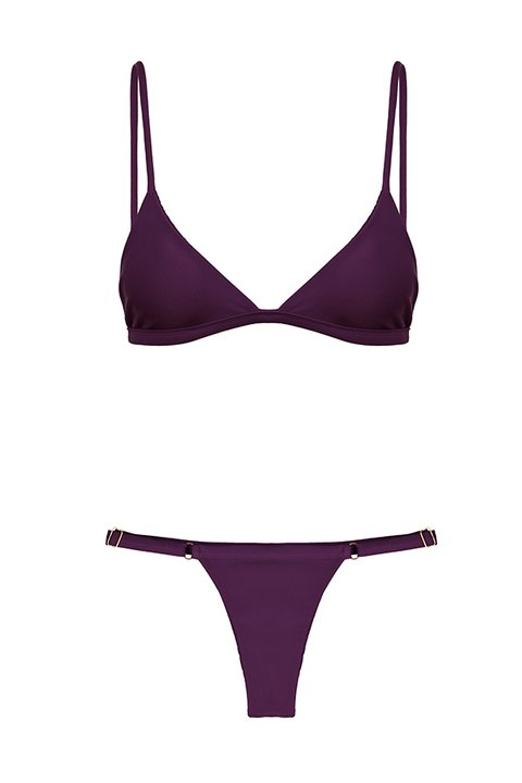 BIKINI COMPORTA STRIPED GRAPE