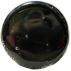 Circulo de vitreaux de 2 cm de diametro color negro con cuerpo regulable nro. 19