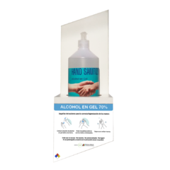 Soporte para pared - Incluye 1 Alcohol en Gel de 1 Kg con dispenser
