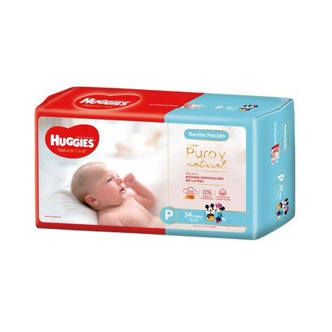 Huggies Puro y Natural Px34 Unidades