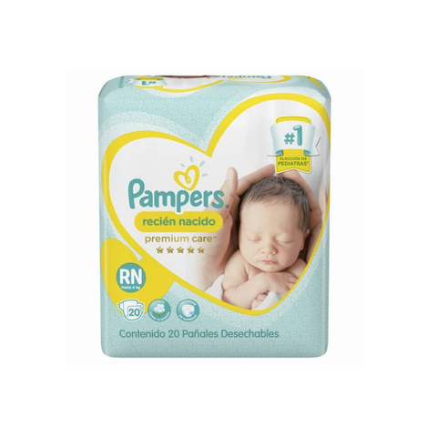 Pampers Premium care Recién Nacido RN x20