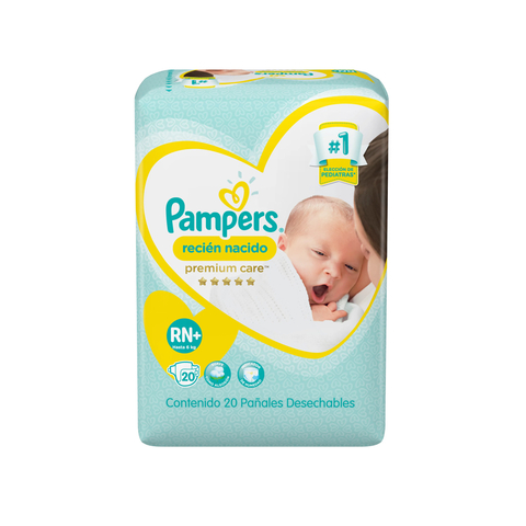 Pampers Premium Care Recién Nacido RN+ x20u
