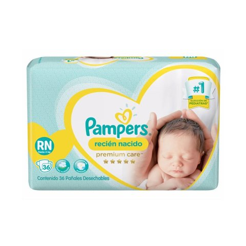 Pampers Premium Care Recien Nacido RN x36