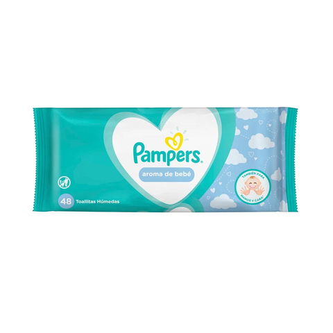 Toallitas Pampers Aroma Bebé x 48 Unid.