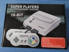 Vídeo Game Console Super Nintendo Retrô Super Players Completo + Cartucho com 102 Jogos