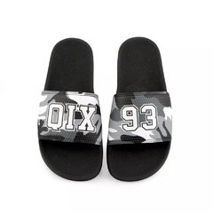 Chinelo Qix Slide Preto Camo Cinza - HB Point