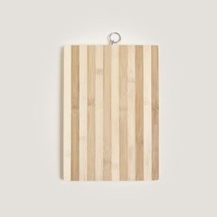 TABLA DE BAMBOO RECTANGULAR RAYADA 24X34CM
