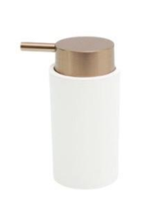 DISPENSER LUXURY BLANCO Y COBRE 14X7 CMS - comprar online