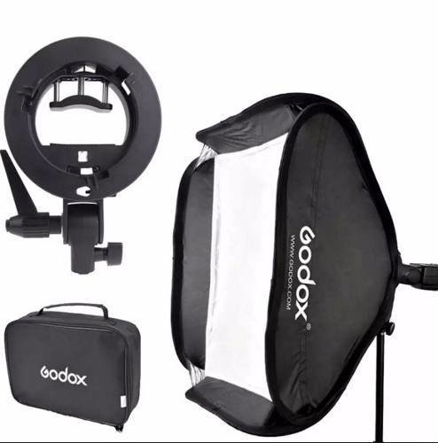Softbox 80x80 con Bracket para Flash y Montura Bowen GODOX