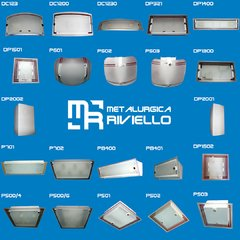 Plafón De Pared Con 2 Vidrios Ideal Para Baño Apto Led O Bc