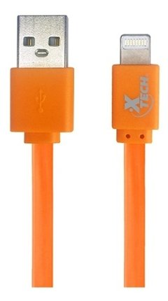 Cable Usb iPhone Lightning Plano Xtech 1m iPad Colores - tienda online