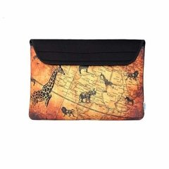 Funda Neoprene Notebook 14 A 15 Pulgadas Bags Antique Map