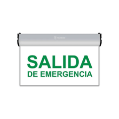 cartel salida de emergencia led