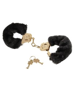 FETISH FANTASY GOLD DELUXE FURRY CUFFS GOLD - Sexshop Afrodita