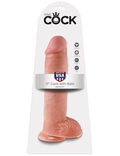 KING COCK 11″ COCK WITH BALLS FLESH