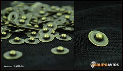 Atraque de 9 mm ( art 3809 ) color Bronce Viejo x 200 unidades - ideal para jeans