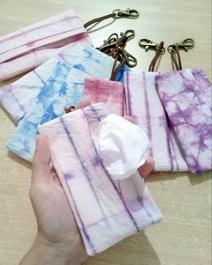 Porta pañuelitos descartables Shibori
