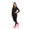 Blusa 2ª Pele Power Warm Preto Feminino - Sol Sports na internet