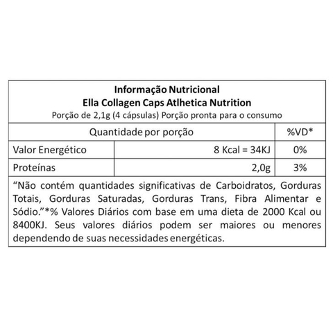 Ella Collagen 120 caps - Atlhetica Nutrition - comprar online