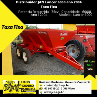 Distribuidor JAN Lancer 6000 ano 2004 Taxa Fixa - JAN