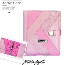 Agenda Negra Geo Barbie Color Rosa con Repuesto 2021 de Regalo/ Antonia Agosti