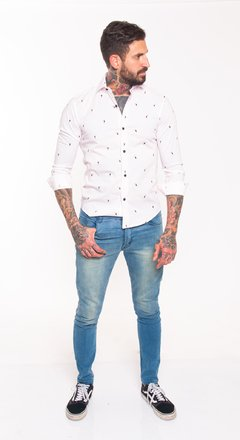 Camisa slim fit estampada tucanes #1482 en internet