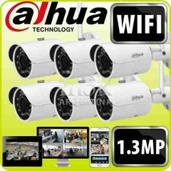 Kit Ip Inalambrico Dahua 6 Camaras Ipc-hfw1120s-w Wifi 1.3mp