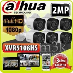 Kit Seguridad Dahua Dvr 8 Full Hd 1080p + 6 Camaras 2mp Cctv