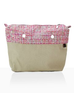 JOIN! HANDBAGS BOLSA INTERIOR TEJIDO ROSA